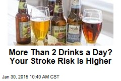 More Than 2 Drinks a Day? Your Stroke Risk Is Higher