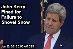 John Kerry Fined for Failure to Shovel Snow
