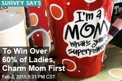 To Win Over 60% of Ladies, Charm Mom First