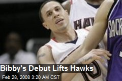 Bibby's Debut Lifts Hawks