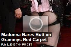 Madonna Bares Butt on Grammys Red Carpet
