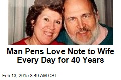 Man Pens Love Note to Wife Every Day for 40 Years