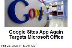Google Sites App Again Targets Microsoft Office