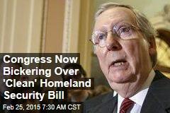 Senate GOP Offers 'Clean' Homeland Security Bill