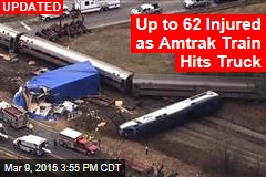 40 Injured When Amtrak Train Hits Truck