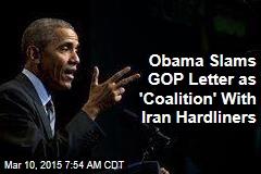 Obama Slams GOP 'Interference' in Iran Talks