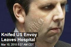 Knifed US Envoy Leaves Hospital