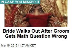 Bride Walks Out After Groom Gets Math Question Wrong