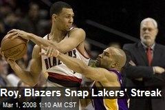 Roy, Blazers Snap Lakers' Streak