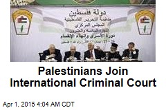 Palestinians Join International Criminal Court