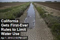 California Gets First-Ever Rules to Limit Water Use