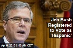 Jeb Bush Registered to Vote as 'Hispanic'