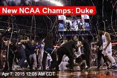 New NCAA Champs: Duke