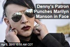 Denny's Patron Decks Marilyn Manson in Face