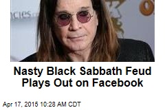 Nasty Black Sabbath Feud Plays Out on Facebook