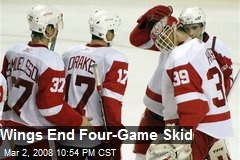 Wings End Four-Game Skid