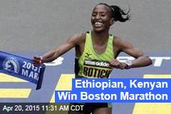 Ethiopian, Kenyan Win Boston Marathon