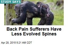 Back Pain Sufferers Have Less Evolved Spines
