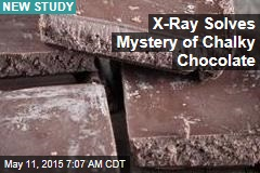 X-Ray Solves Mystery of Chalky Chocolate