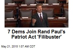 7 Dems Join Rand Paul's Patriot Act 'Filibuster'