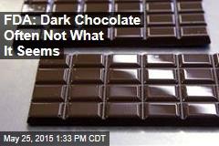 FDA: Dark Chocolate Often Not What It Seems