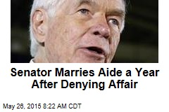Senator Marries Aide a Year After Denying Affair