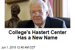 College's Hastert Center Has a New Name