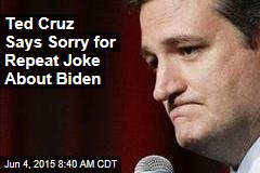 Ted Cruz Says Sorry for Repeat Joke About Biden