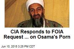 CIA Responds to FOIA Request ... on Osama's Porn