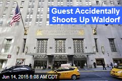 Guest Accidentally Shoots Up Waldorf