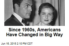 Since 1960s, Americans Have Changed in Big Way