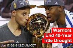 Warriors End 40-Year Title Drought