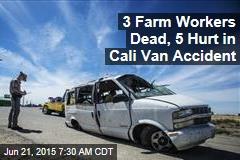 3 Farm Workers Dead, 5 Hurt in Cali Van Accident