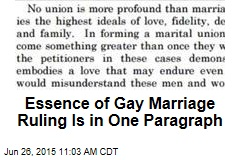 Essence of Gay Marriage Ruling Is in One Paragraph
