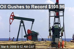 Oil Gushes to Record $105.96