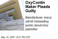 OxyContin Maker Pleads Guilty