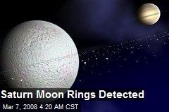 Saturn Moon Rings Detected