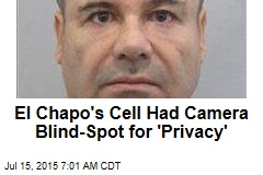 El Chapo's Cell Had Camera Blind-Spot for 'Privacy'