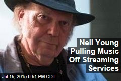 Neil Young Pulling Music Off Streaming Services