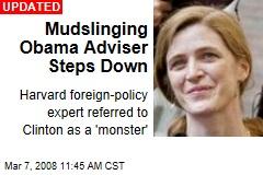Mudslinging Obama Adviser Steps Down