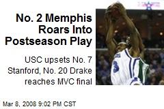 No. 2 Memphis Roars Into Postseason Play