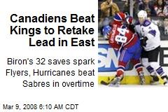 Canadiens Beat Kings to Retake Lead in East
