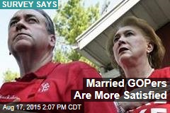 Married GOPers Are More Satisfied