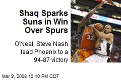 Shaq Sparks Suns in Win Over Spurs