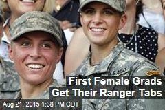 First Female Grads Get Their Ranger Tabs
