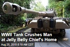 WWII Tank Crushes Man at Jelly Belly Chief's Reunion