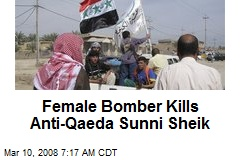 Female Bomber Kills Anti-Qaeda Sunni Sheik