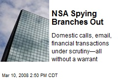 NSA Spying Branches Out