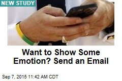 Want to Show Some Emotion? Send an Email