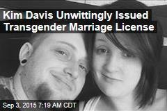 Kim Davis Unwittingly Issued Transgender Marriage License